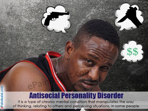 Common symptoms of antisocial personality disorder