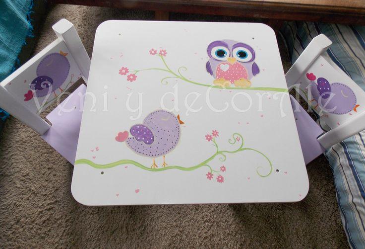 mesa y sillas infantiles, baules, cuadros, decoracion...