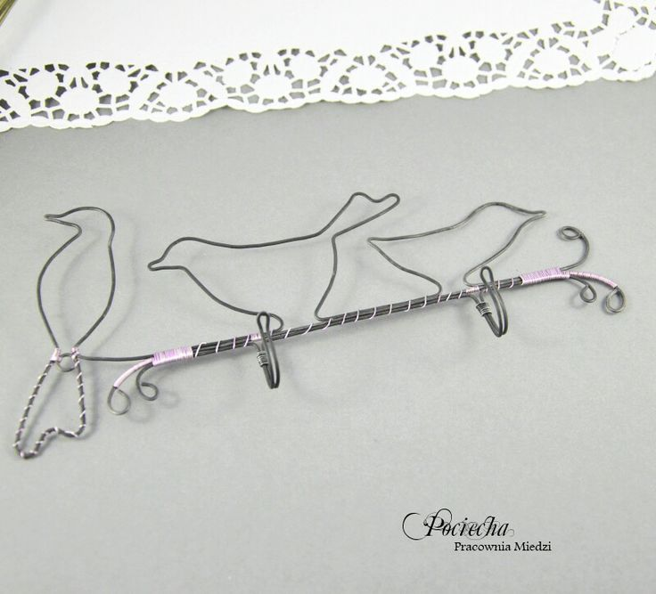 #bird #hanger for #jewelry #pendants #earings #wirewrapped #homedecor