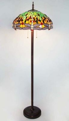 """Ruby Plaza  Tiffany Style Dragonfly Stained Glass Floor Lamp  Price: $307.00 
