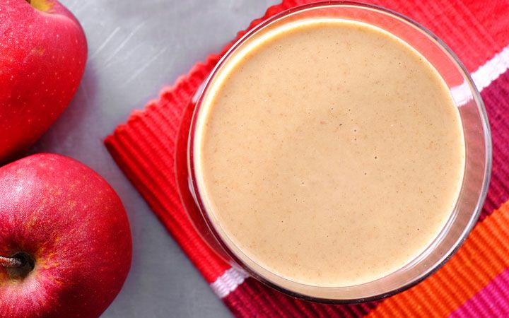 """Recipe: Apple n Flaxseed Smoothie to Aid Digestion Serves 1; approx 337 cals Ingredients: 1 medium Apple (preferably a firm type) 1/2 Banana 1 tablespoon of Peanut Butter 2 tablespoons ground Flax 1 teaspoon ground Cinnamon 1/4 teaspoon Vanilla Extract 1/2 cup Almond Milk, unsweetened 1/2 cup Ice Blend until smooth and enjoy.  Source:<a href=""""http://www.drinkmehealthy.com/recipe-apple-n-flaxseed-smoothie-to-aid-digestion/"""" title&#x3D..."""