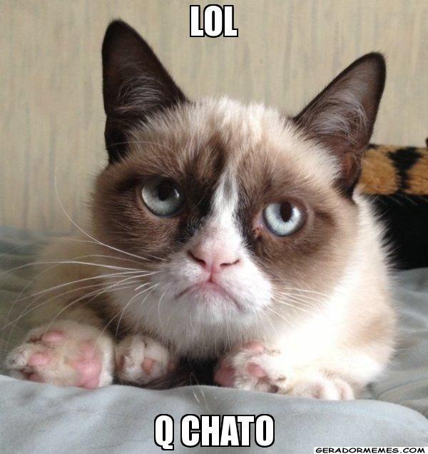 LOL q chato - Gato Rabugento | Gerador Memes