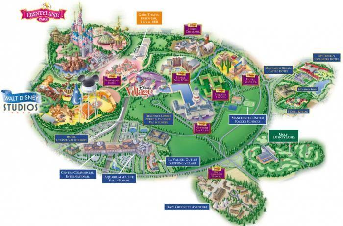 Mapa Disneyland Paris Walt Disney Disneyland Paryz