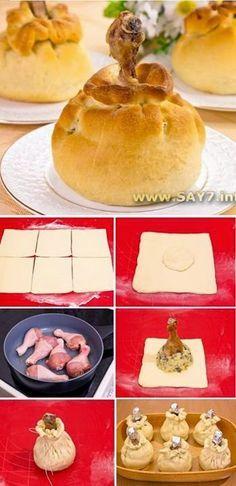 ChefCricket: Csirkecomb batyuban
