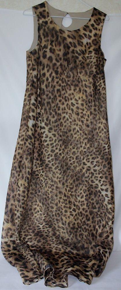 Womens Maxi Dress Leopard Cheetah JESSICA International  #Jessica #Maxi #Clubwear