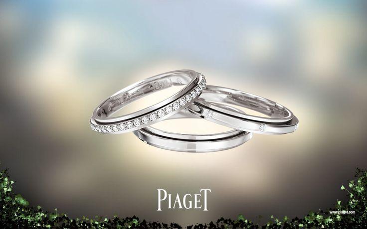 Piaget Wedding Rings White Gold Diamonds