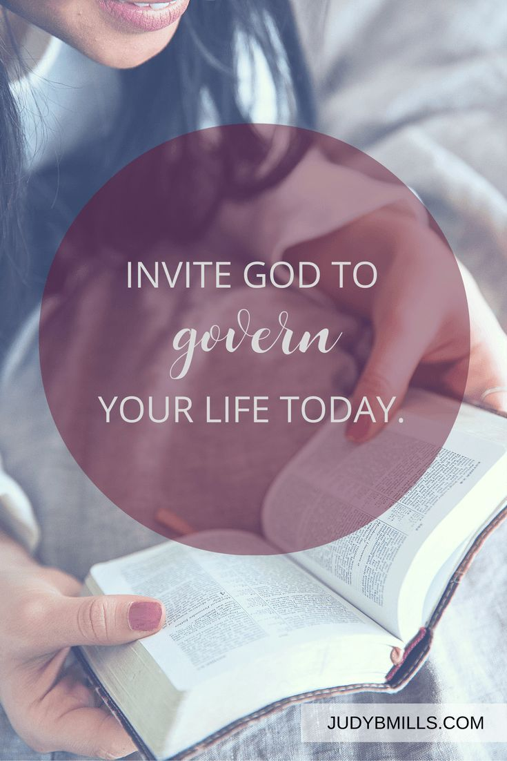 Invite God to govern your life today. Bible study lessons from the books of Isaiah, Luke, and Hebrews.