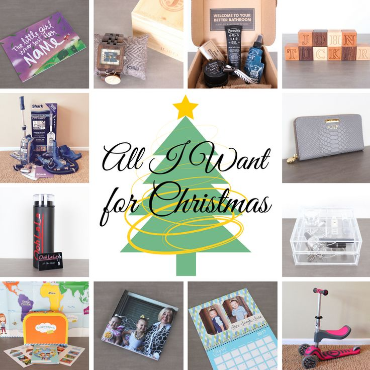 Holiday Gift Guide for the Family- Lost My Name Book, Jord Watch, Dollar Shave Club, Smiling Tree Blocks, Gigi New York Wallet, Boxy Girl, SmarTrike Scooter, Shutterfly Calendar, Chatbooks, Little Passports, Ooh La La Gift Card, and Shark Vacuum.