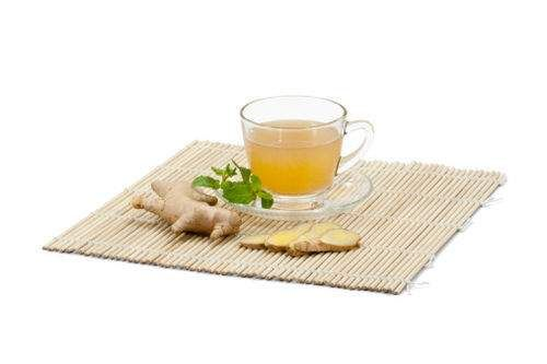 Agua afrodisíaco de jengibre y té