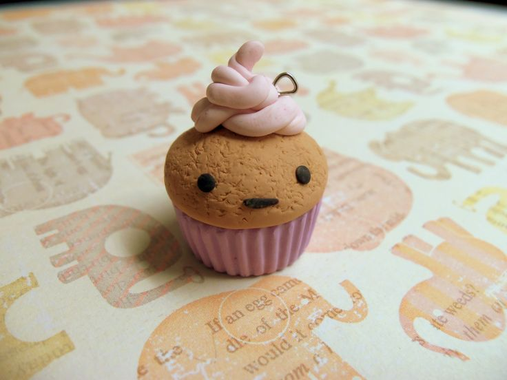 Not so ecstatic cupcake XD  #cupcake #polymerclay  visit my shop on etsy! www.etsy.com/shop/TheCraftyWhale