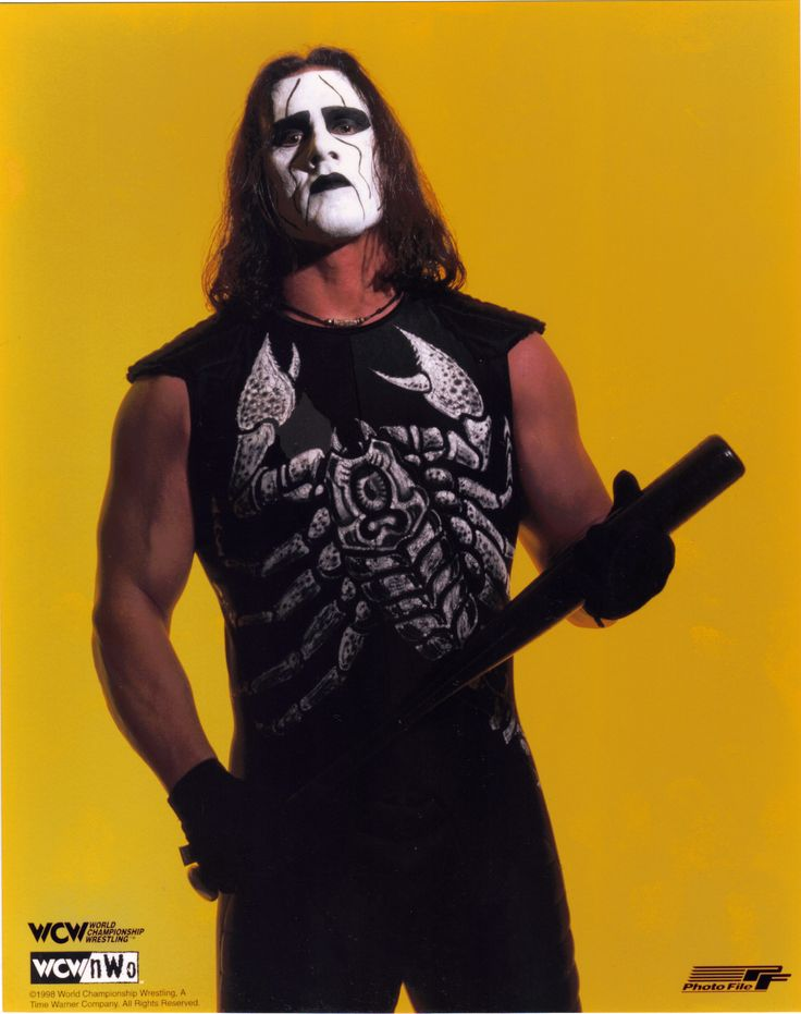 WCW Legend Sting. One of the best character ...