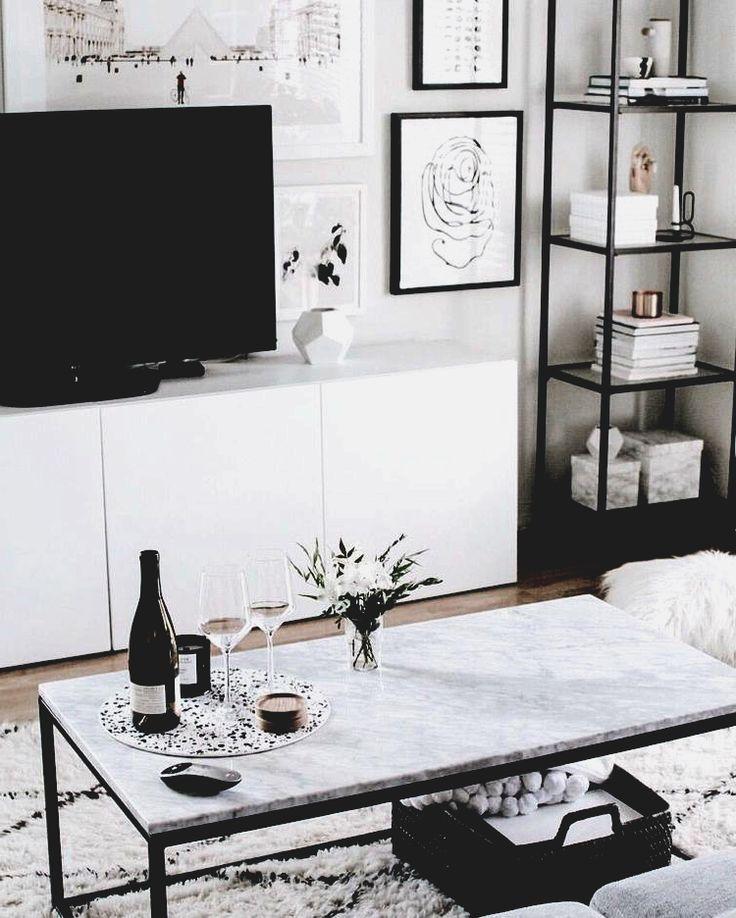 wohnzimmer inspo   Marmor Couchtisch eingerichtet,…