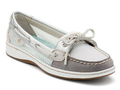 Sperry Women's Angelfish Shoes Light Grey/Charcoal officially added to my shoe collection