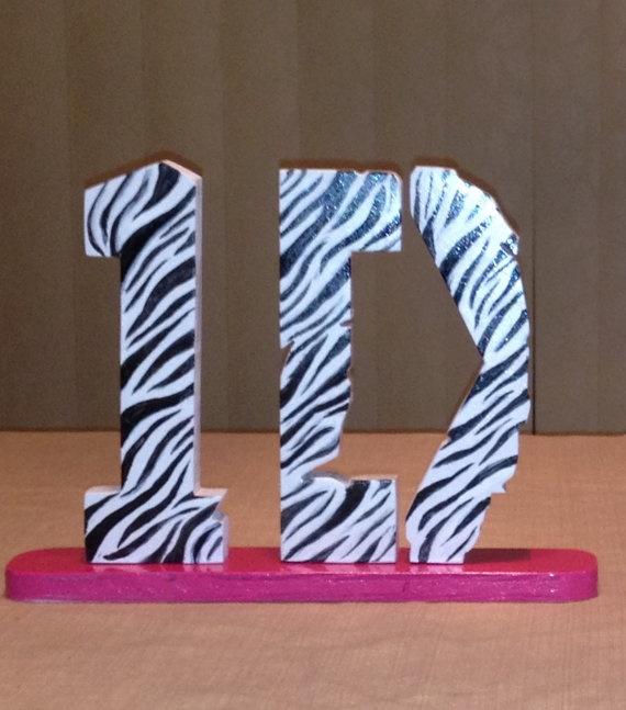 1D One Direction Shelf Table Desk Decor Zebra By KDColors12, $17.99