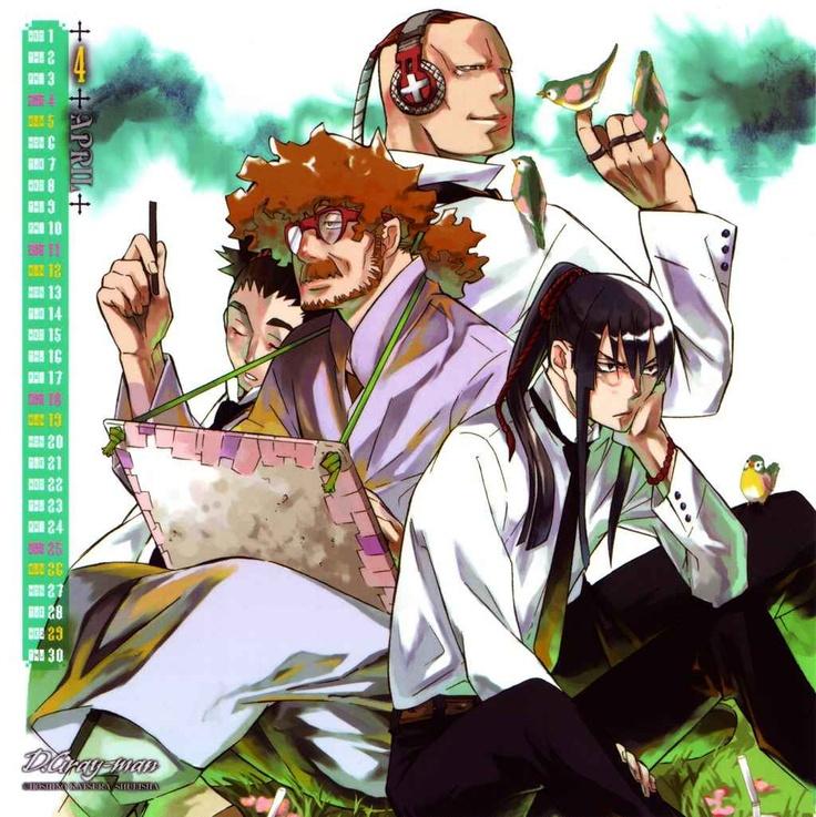 D Gray-man calendario 2009 (manga) - Kanda, Marie, Chaoji Y Tiedoll