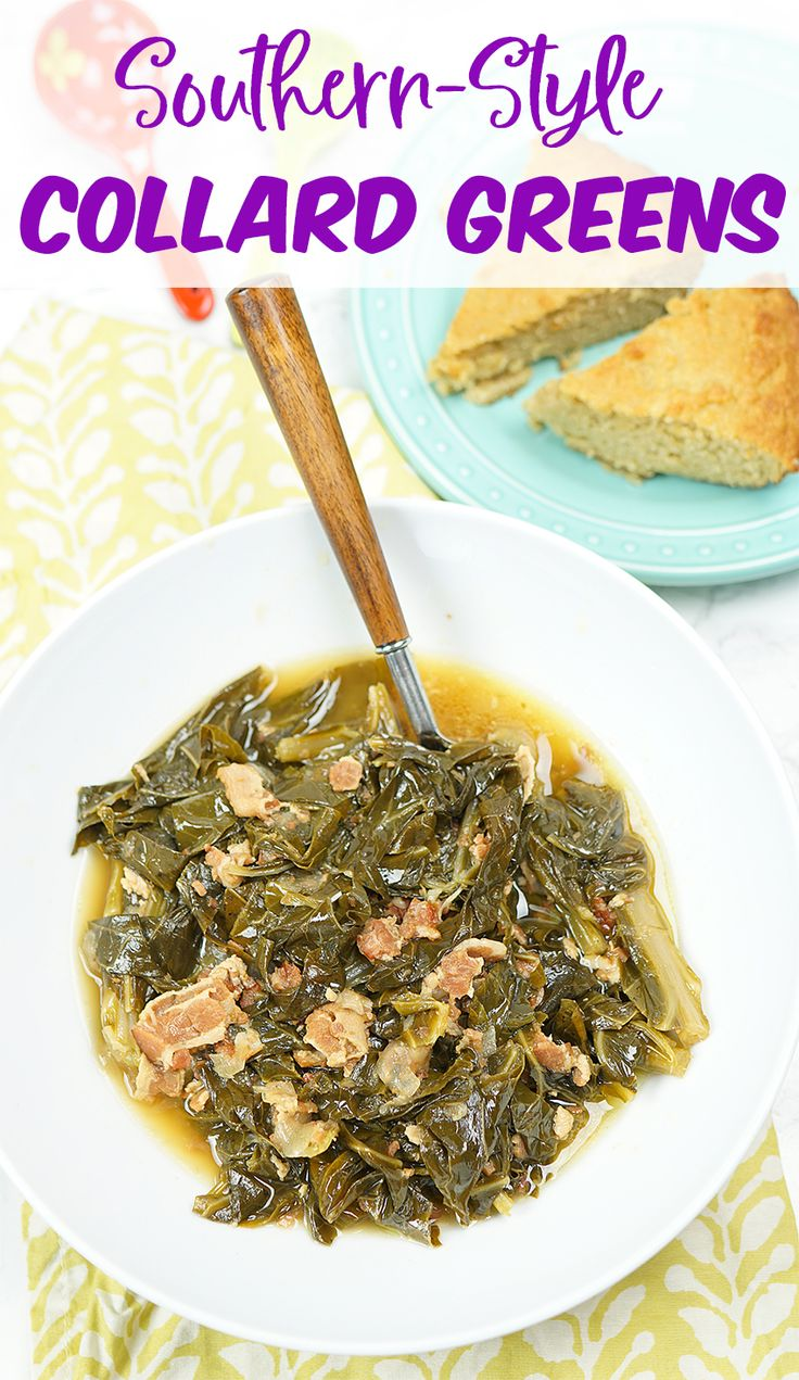 A healthy and low carb southern style collard greens recipe.