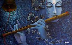simply beautiful radha krishna on blue ruff sheet