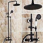 Antik Duschsystem Regendusche Handdusche inklusive with  Keramisches Ventil Zwei Griffe Drei Löcher for  Bronze mit Ölschliff ,  2017 - €281.25