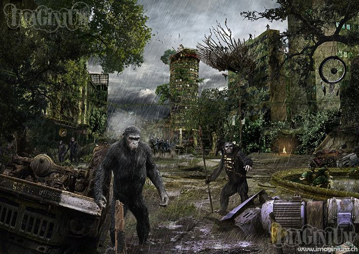 montage photoshop planet of the apes