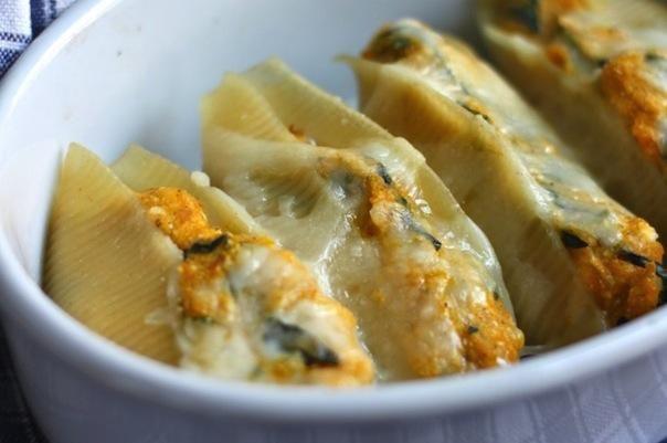 Butternut Squash and Kale Stuffed Shells