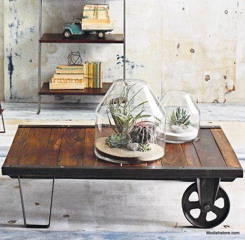 Table basse en palette industrielle à vendre