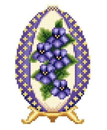Подарки к Пасхе / Вышивка / Схемы вышивки крестом