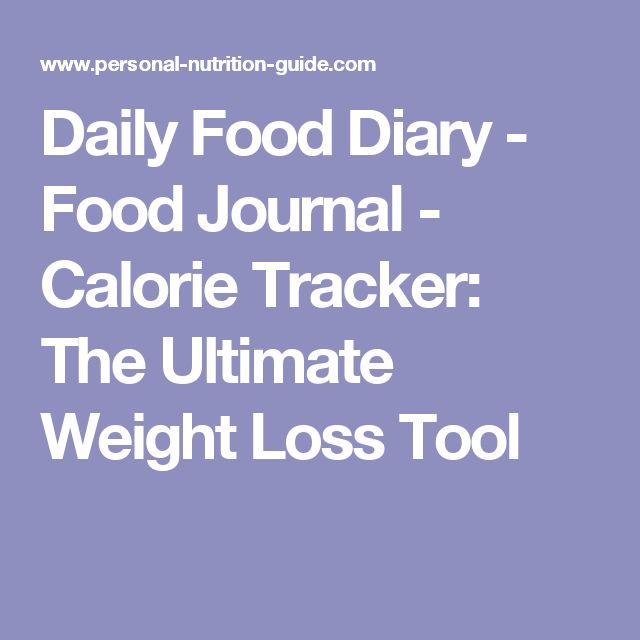 Daily Food Diary - Food Journal - Calorie Tracker: The Ultimate Weight Loss Tool