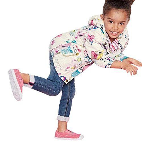 593d121e1 Goodtrade8 Gotd Little Big Girls Graffiti Hooded Coat Outerwear ...
