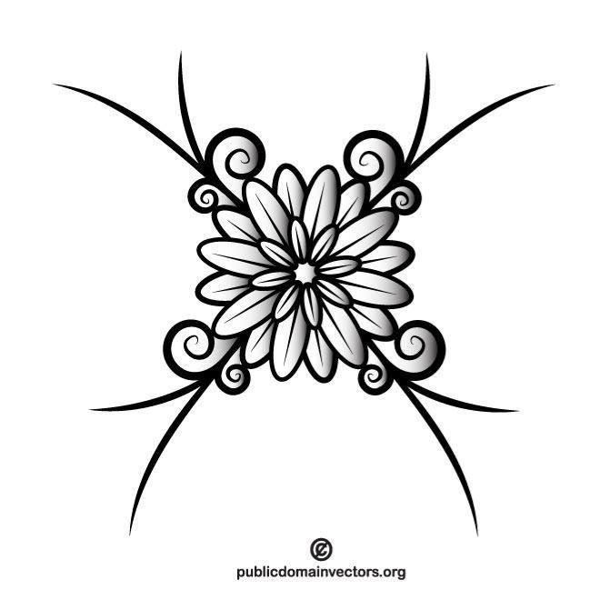 خلفيات فكتور زهور أحاديه اللون Monochrome Floral Decoration Flower Silhouette Silhouette Clip Art Beautiful Flowers