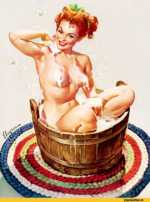 Pin-Up,красивые картинки,баня