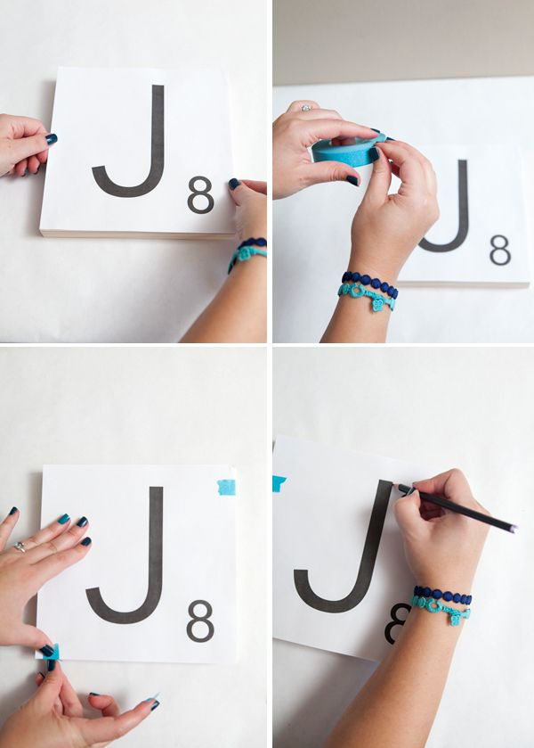 How To Make Giant Scrabble Tile Table Numbers Baby Boy