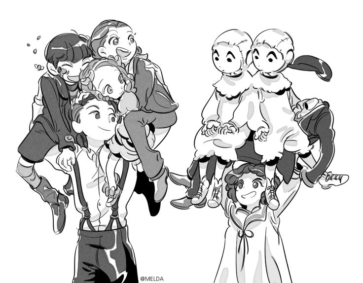 Victor and Brownyn lifting up the other peculiars this is too cute