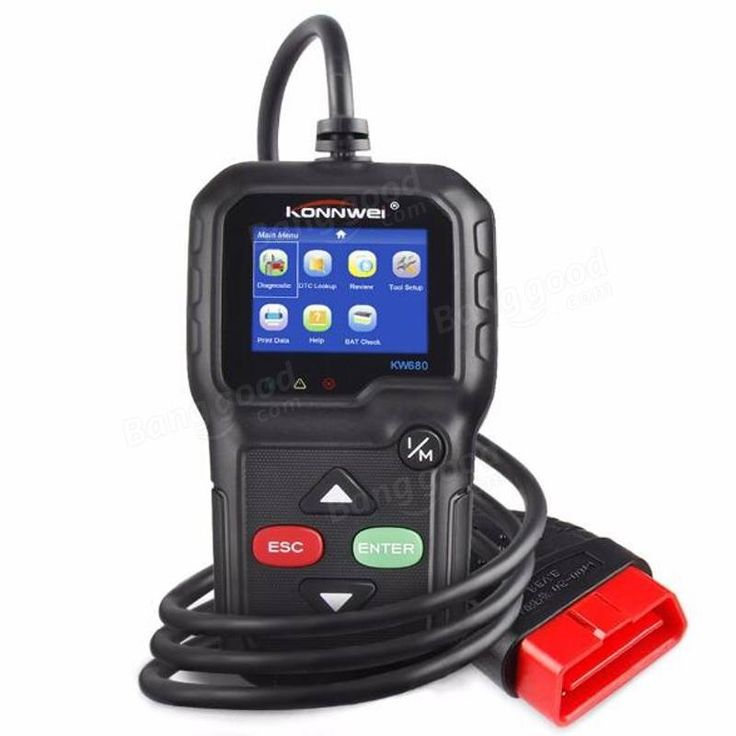 KONNWEI KW680 Code Reader Universal Car Diagnostic Scanner Tool Full OBDII EOBD Functions Sale - Banggood.com