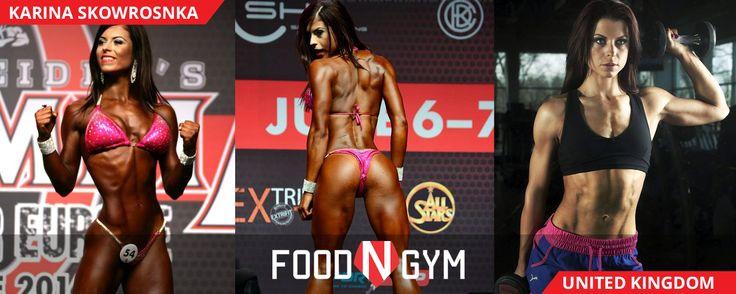 The beautiful and super fit with Karina Skowrosnka #fit #fitness #bikini #abs #niceass