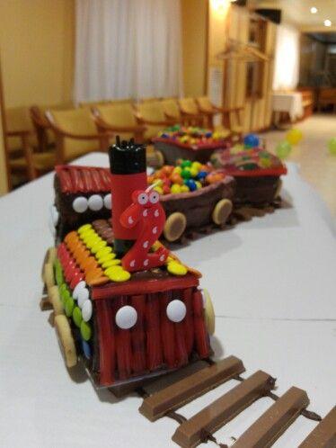 Pastel de tren