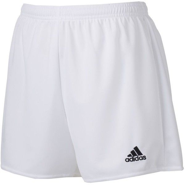 Women's Adidas climalite Womens Pama 16 Soccer Shorts, Size: M, White... ($13) ❤ liked on Polyvore featuring activewear, activewear shorts, white black, adidas activewear, adidas sportswear and adidas