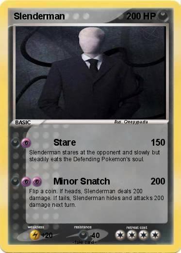 Creepypasta Pokemon Cards Language Card English