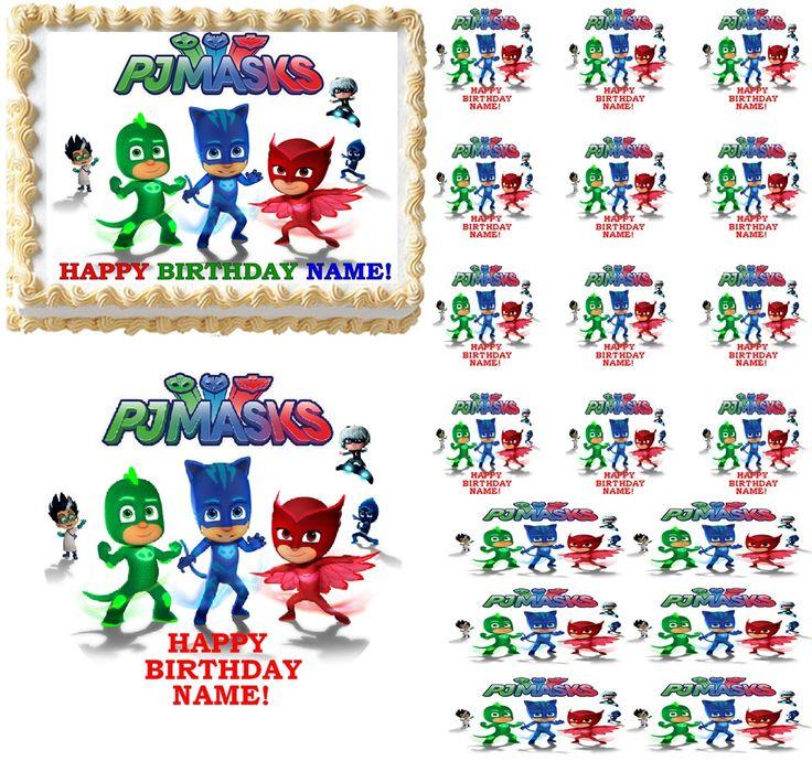 Edible Cake Decoration Sheets : PJ Masks PJMASKS Edible Cake Topper Image Frosting Sheet ...