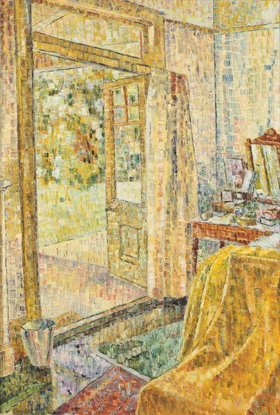 "Grace Cossington-Smith Australian artist. This from the Ballarat Art Gallerty. ""Interior into a Garden"". Oil on board."