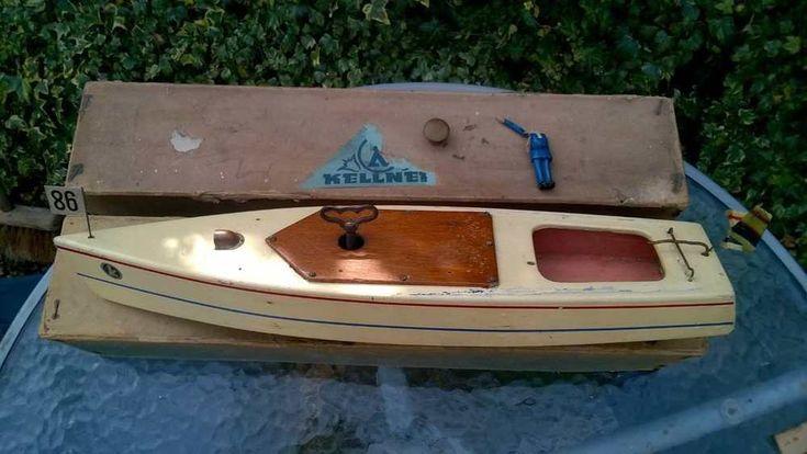 "Kellner clockwork boat 17"" box  key 2flags bung Germany works Bassett Lowke bing"