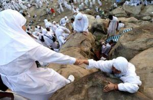 Mahmoud asks if he gets sick on the day of Arafah & can't climb the hill, is his Hajj valid?