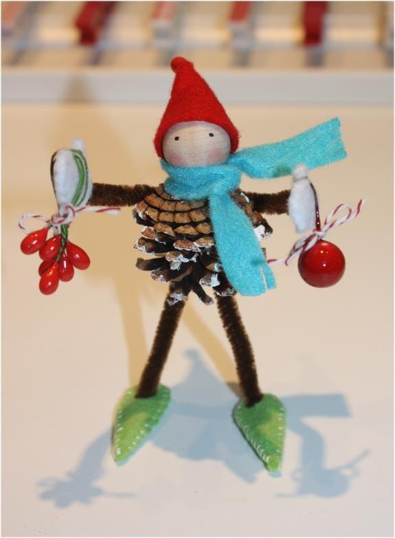 PInecone Elf - My favorite. Thank you, Martha Stewart.