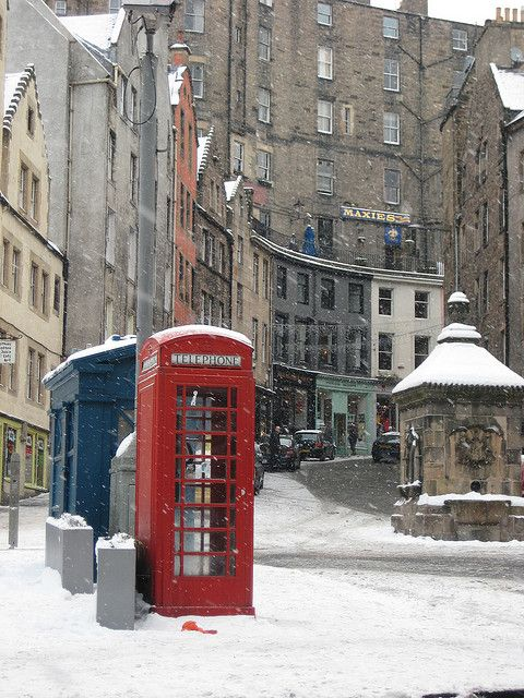 Edinburgh, Grassmarket. Know that view (and that snow) so well. December 24, 2009.  See this and more great Scottish images by miketransreal on flickr.