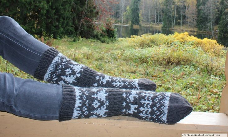 A Trip into the Woods Socks