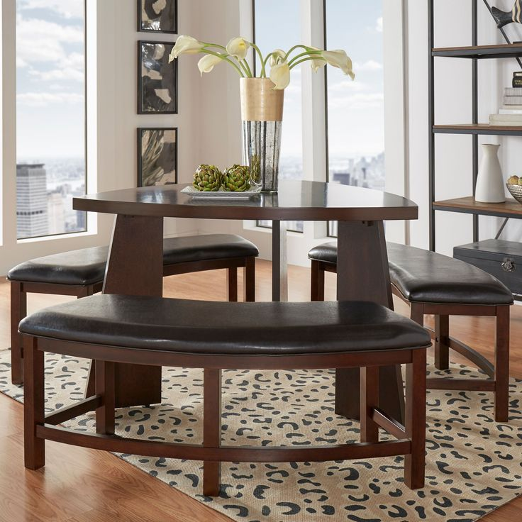 Upgrade Your Home Decor With This Triangle Shaped Paradise Dining Table.  This Dining Set Part 89