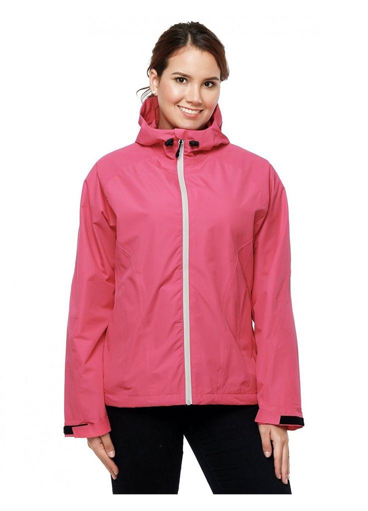 MIER Women's Packable Rain Jacket with Hood Waterproof Rain Shell Windbreaker for Outdoor