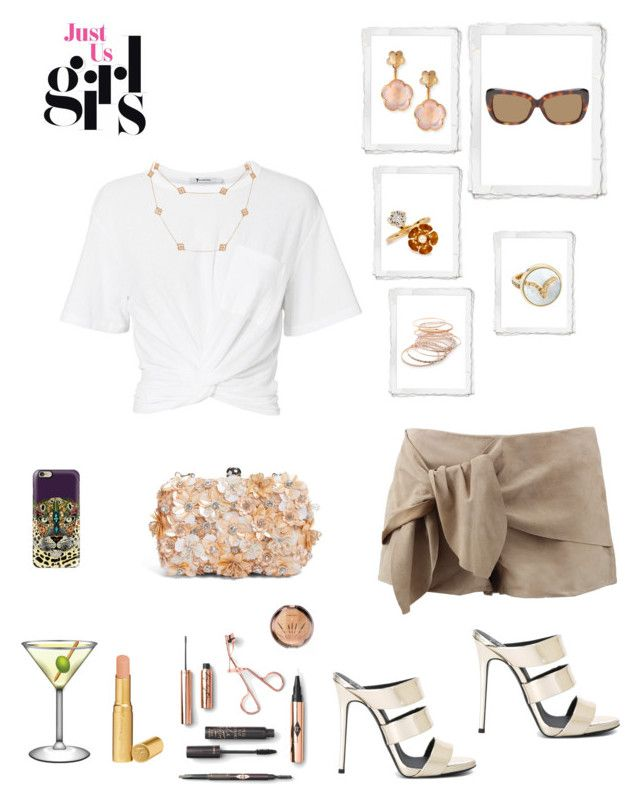 """Untitled #789"" by lianatzelese on Polyvore featuring Giuseppe Zanotti, LaMarque, T By Alexander Wang, Van Cleef & Arpels, Pasquale Bruni, Red Camel, Too Faced Cosmetics, Linda Farrow, Glint and Casetify"