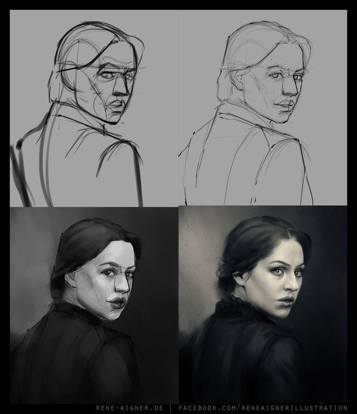 René Aigner's Sketchbook via PinCG.com