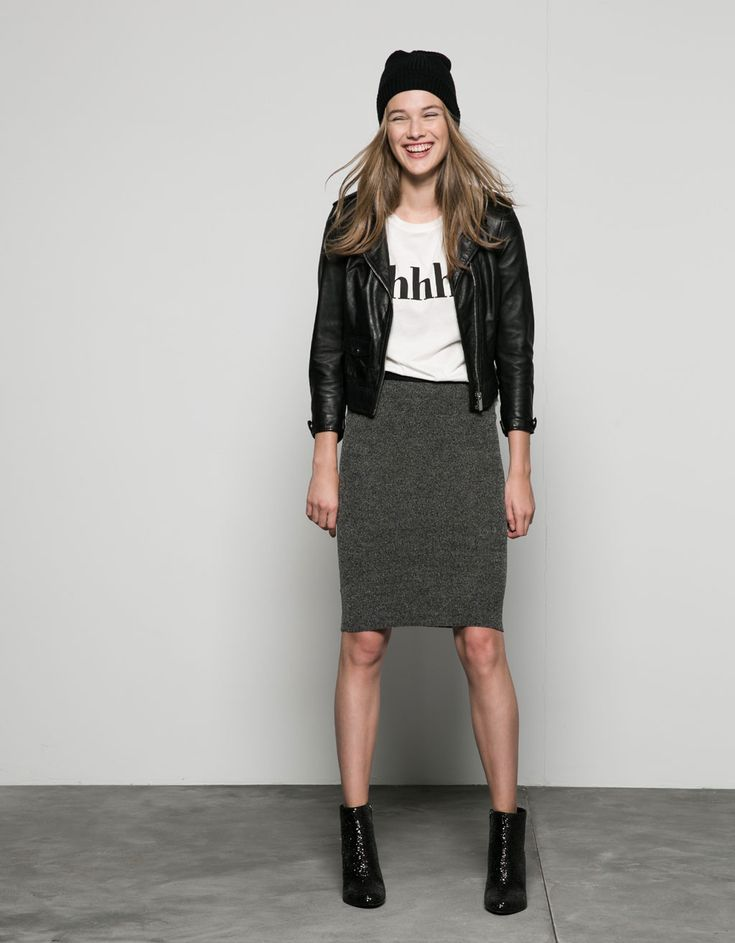 ribbed waist tube skirt. Discover this and many more items in Bershka with new products every week