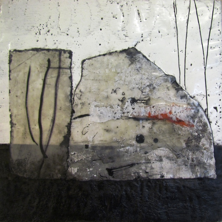 Joanne Batchelor - Down on the Farm 2 - encaustic on panel - (April 2012)